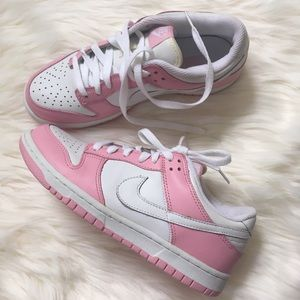 Nike pink & white Air Force 1s
